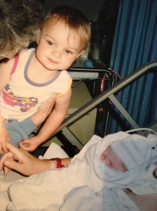 The day my baby sister was born (almost) 19 years ago!