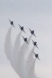 The Blue Angels flew by to say hello after the show! So cool!