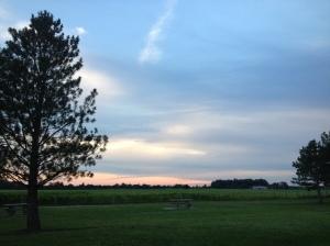 Ohio rest stop sunset