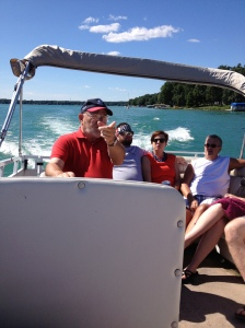 Grandpa taking us on a boat ride <3