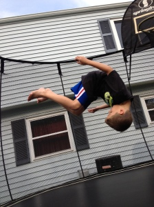 Jordan doing a flip