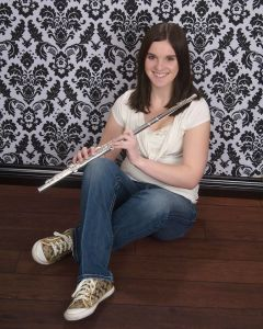 One of my senior pictures with my flute