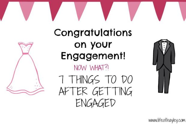 7 Things to do after getting engaged - wedding planning