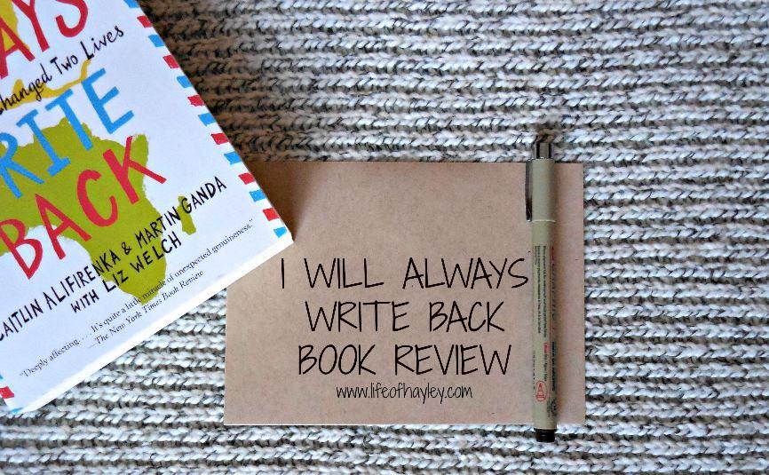 I Will Always Write Back Book Review by Caitlin Alfirenka & Martin Ganda