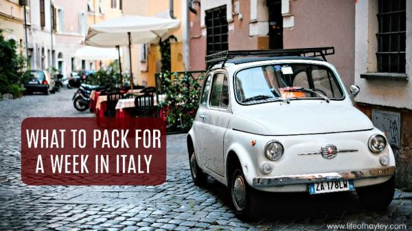 what to pack for a week in italy, rome italy packing list